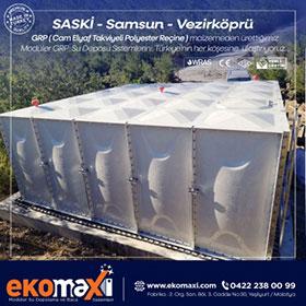 SASKİ - Samsun - Vezirköprü GRP Su Depoları