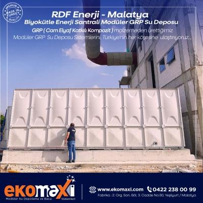 RDF Enerji - Biyokütle Enerji Santrali için Modüler GRP Su Deposu