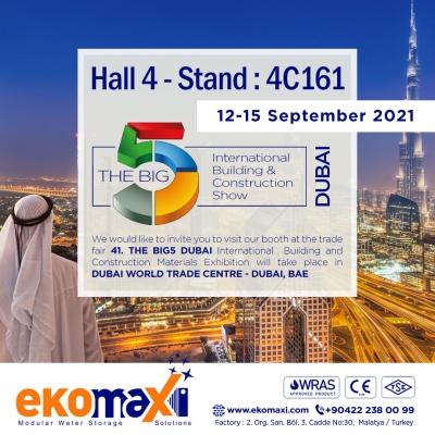 Dubai The Big 5 Construction Show 2021'deyiz!