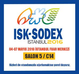 04-07 Mayıs ISK-SODEX 2016 Fuarındayız.